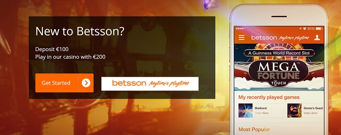 Betsson casino bonus to new players